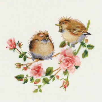 Rose Chick-Chat by Valerie Pfeiffer Cross Stitch Kit